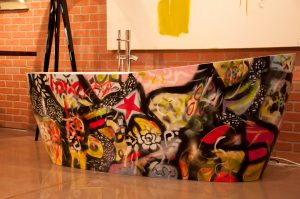 Aquabrass' limited edition Graffiti Tub at Graffiti Glam. ©Jasmine Christine Photography.
